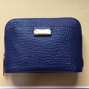 Navy pebbled leather Burberry crossbody bag NWOT